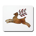 Christmas Art Reindeer Mousepad