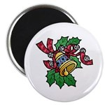 Christmas Art Holly and Bells Magnet