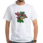 Christmas Art Holly and Bells White T-Shirt