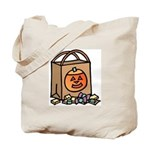 Halloween Art Trick or Treat Tote Bag
