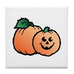 Halloween Art Pumpkin Design Tile Coaster