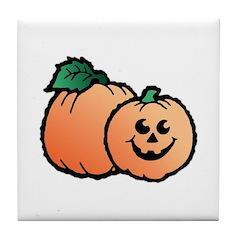 Halloween Art Pumpkin Design Tile Coaster
