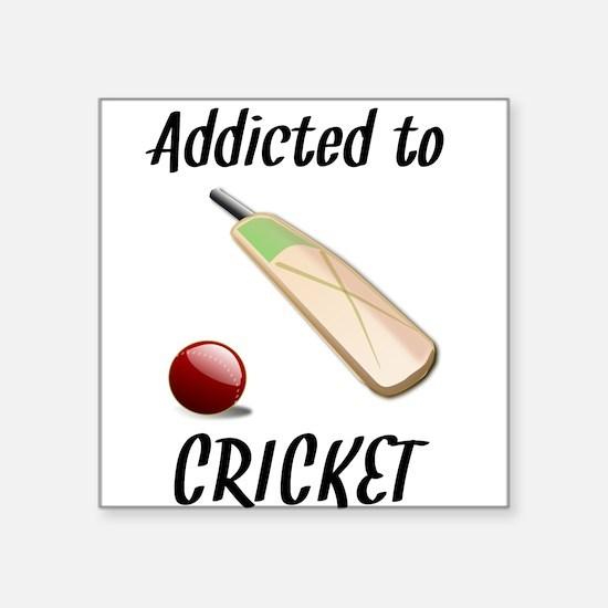 Addicted To Cricket Sticker