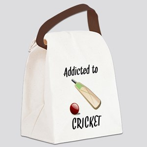 Addicted To Cricket Canvas Lunch Bag