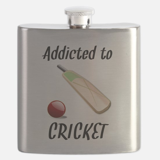 Addicted To Cricket Flask