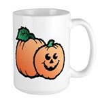Halloween Art Pumpkin Large Mug