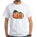 Halloween Art Pumpkin White T-Shirt