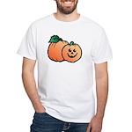 Halloween Art Pumpkin White T-Shirt
