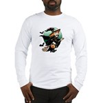 Halloween Art Witch on Broom Long Sleeve T-Shirt
