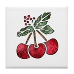Nature Art Cherry Design Tile Coaster