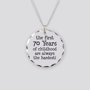 70 Years Childhood Necklace Circle Charm