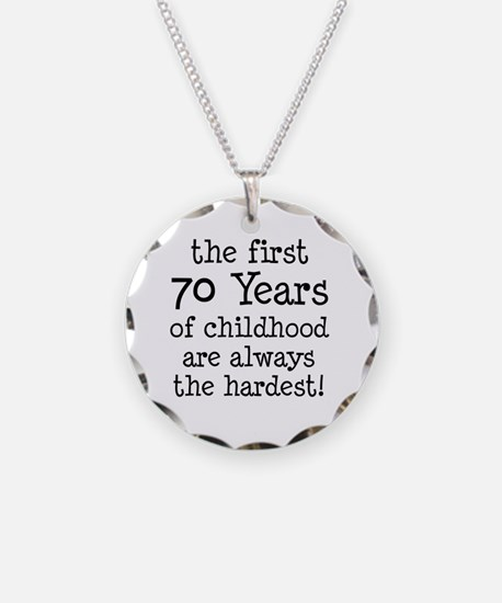 70 Years Childhood Necklace