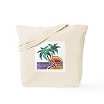 Nature Art Tropical Sunset Tote Bag