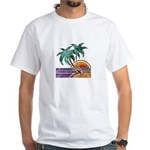 Nature Art Tropical Sunset White T-Shirt
