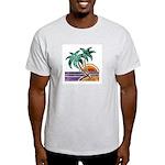 Nature Art Tropical Sunset Ash Grey T-Shirt