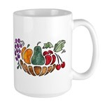 Nature Art Fruit Bowl Design Large Mug