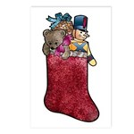 Whimsical Teddy Bear and Stocking Postcards (8)