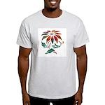 Floral Art Sunburst Design Ash Grey T-Shirt