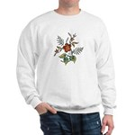 Rust and Green Floral Art Sweatshirt