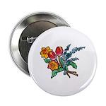Floral Art Bouquet Button