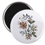 Beautiful Floral Art Design Magnet