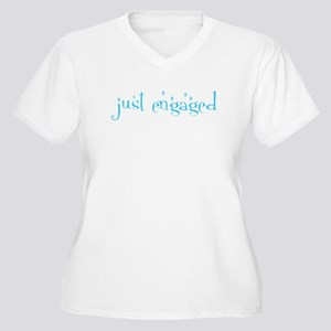 just engaged Women's Plus Size V-Neck T-Shirt