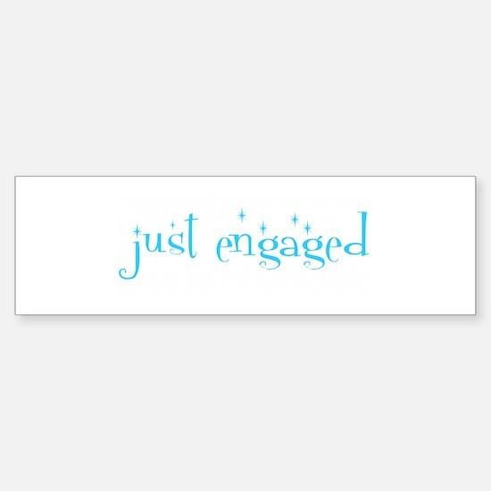 just engaged Bumper Car Car Sticker