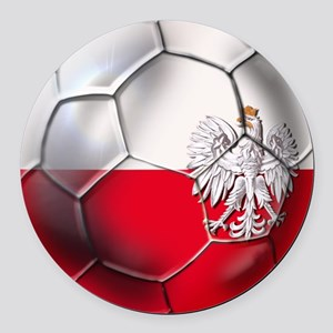 Poland Football Round Car Magnet