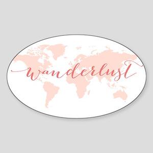 Wanderlust world map Sticker