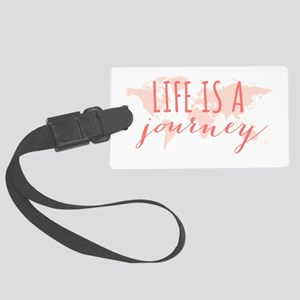 Life is a journey world map Luggage Tag