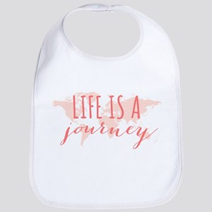 Life is a journey world map Bib