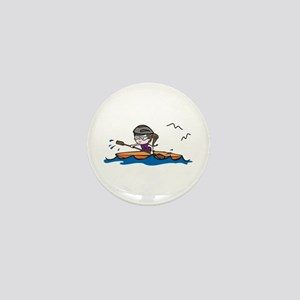 Kayak Girl Mini Button