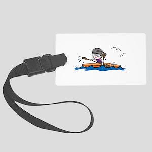 Kayak Girl Luggage Tag