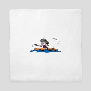 Kayak Girl Queen Duvet