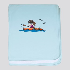 Kayak Girl baby blanket