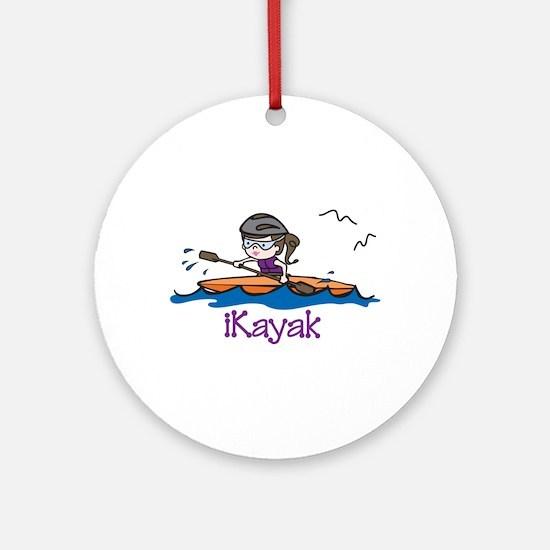 iKayak Ornament (Round)