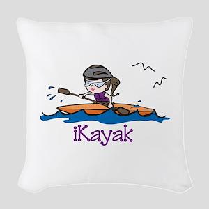 iKayak Woven Throw Pillow