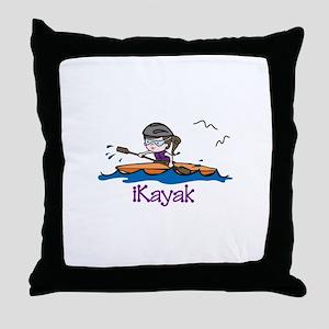 iKayak Throw Pillow