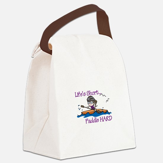 Paddle Hard Canvas Lunch Bag