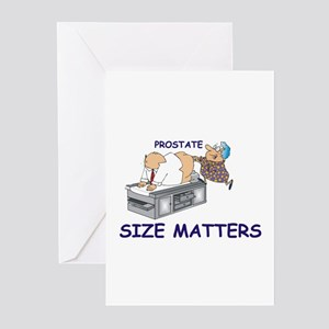 Prostate size matters BIRTHDAY Cards (Pk of 10