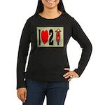 I Heart 2 Scoot Women's Long Sleeve Dark T-Shirt