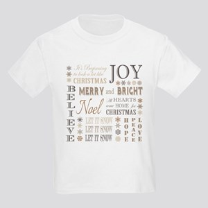modern vintage christmas words T-Shirt