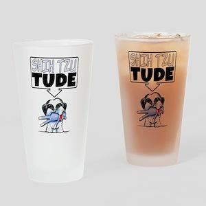 Shih Tzu Tude Drinking Glass