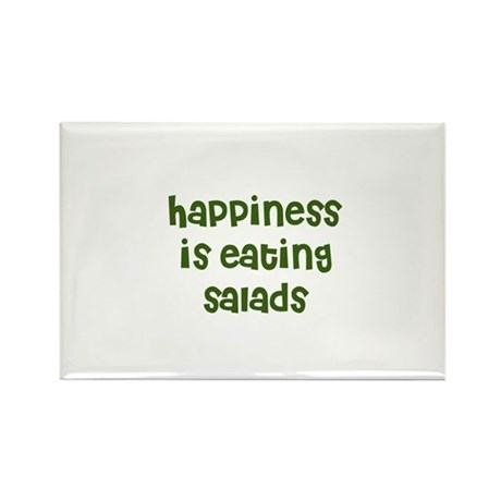 happiness is eating salads Rectangle Magnet