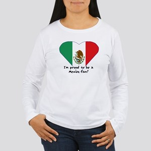Mexico fan flag Women's Long Sleeve T-Shirt