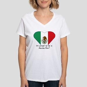 Mexico fan flag Women's V-Neck T-Shirt