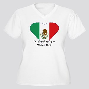 Mexico fan flag Women's Plus Size V-Neck T-Shirt