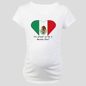 Mexico fan flag Maternity T-Shirt
