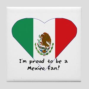 Mexico fan flag Tile Coaster