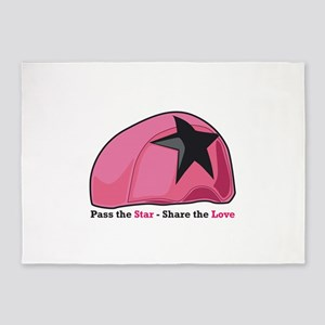 Pass the Star Share the Love 5'x7'Area Rug